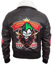 Nuevo Mujeres Harley Quinn suicidio escuadrón Bombshell Imitación Cuero Chaqueta