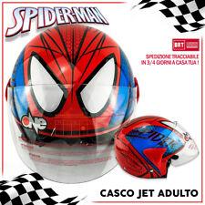CASCO JET MODELLO SPIDERMAN SPIDER MAN MODELLO ROSSO CON VISIERA - MOTO SCOOTER