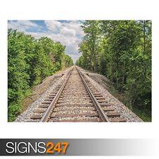 BINARI (ab032) treno POSTER-FOTO POSTER STAMPA ARTE A0 A1 A2 A3 A4