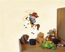 Cowboy mit Lasso Wandtattoo Wandaufkleber Kinderzimmer  6 Größen