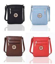 Ladies Faux Leather Women Giselle Cross Body Messenger Bag Girls Shoulder Bag
