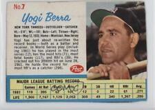 1962 Post #7 Yogi Berra New York Yankees Baseball Card