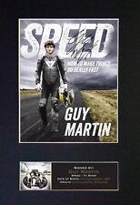 Guy Martin No2 (velocidad) montado firmado autógrafo impresiones de fotos A4 725