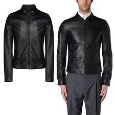 DE Herren Lederjacke Biker Men's Leather Jacket Coat Homme Veste En cuir R56e