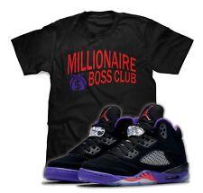 Millionaire Boss Club T-Shirt To Match Air Jordan 5 Raptors Sneakers