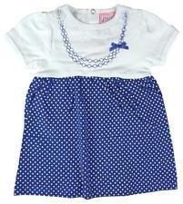 Girls Baby Chloe Louise Lace Trim Polka Skirt Cotton Dress Newborn to 9 Months