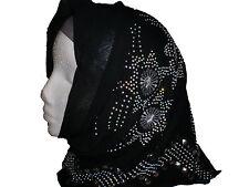 Wear Shawl With Embroidery Beads Muslim Islamic Women Girls Hijab Head Scarf NEW