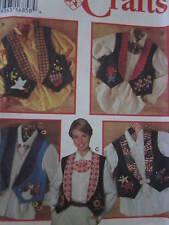 UNCUT Simplicity SEWING Pattern 9657 CRAFT Misses Embellished Vests OOP SEW FF