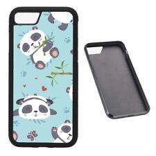 Panda cartoon RUBBER phone case Fits iPhone