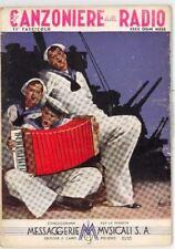 CANZONIERE RADIO 1940 ILLUSTRATORE BOCCASILE MARINAIO