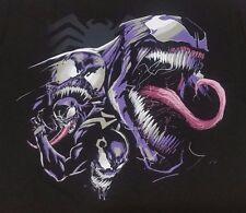 Marvel Venom Smile Mens Black Graphic T Shirt