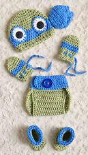 Crochet TMNT Inspired Leonardo Ninja Turtle baby Outfit/Costume NB to 12 m