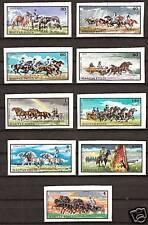 HUNGARY 1913-21 IMPERFORATE MNH Horses Breeding Racing