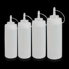 Kitchen Plastic Squeeze Bottle Dispenser Cruet for Sauce Vinegar Ketchup LDPE