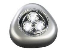 STICK & PUSH Light Lampe mit 3 weißen LEDs (silber) NEU
