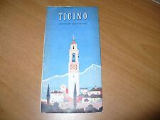 TURISMO SVIZZERA PICCOLA GUIDA TICINO SOUTHERN SWITZERLAND LUGANO LOCARNO 1950
