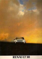 Renault 30 TX 1981-82 UK Market Sales Brochure Inc Turbo Diesel
