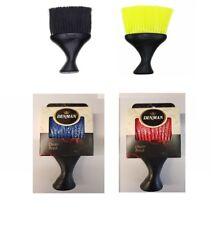 DENMAN D78 BLACK, RED OR YELLOW BARBER NECK DUSTER BRUSH SOFT NYLON BRISTLES
