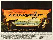 The Longest Day John Wayne cult movie poster print #2