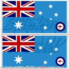 AUSTRALIEN Luftwaffe Flagge AUSTRALISCHE Fahne 110mm Sticker Vinyl Aufkleber x2