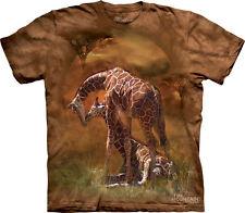 NEW GIRAFFE SUNSET Wildlife Animal The Mountain T Shirt Adult Sizes
