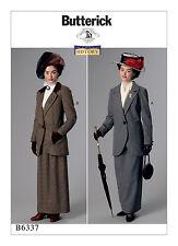 NEW VICTORIAN EDWARDIAN DRESS SUIT JACKET SKIRT PATTERN BUTTERICK B6337