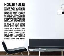 Vinyl Wall art Adesivi di grandi dimensioni preventivi regole della casa cucina moderna Decorazione da parete