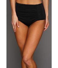 Ladies SHARK.AU Swimwear Bottom High -Waisted Bikini Black/Pink Size 10-18