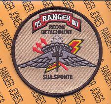 US Army 75th Infantry Regt Airborne Ranger RRD Tan pocket patch