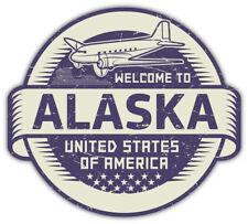 AK Alaska EURO OVAL Bumper Sticker or Helmet Sticker D136 Laptop Cell