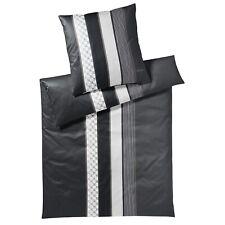 JOOP! Bettwäsche Cornflower Stripes 4069 99 Grau Schwarz Streifen Mako Satin