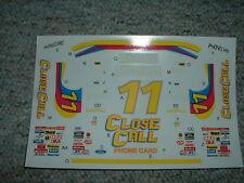 Manufacturer ? decals 1/24 1/25 #11 Close Call Phone Brett Bodine T-Bird  CC