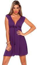 New 4735 Purple Orchid  Rave Clubwear Cocktail Sexy Casual Mini Dress S M L XL