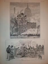 An American Steam Fire Engine 1872 print