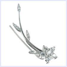925 Sterling Silver Star Flower Leaf Clear Cubic Zirconia Ear Cuff Wrap Earring