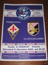 FIORENTINA PALERMO PROGRAMMA PROGRAMME SERIE A 2005/06