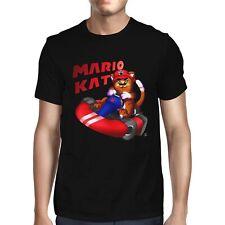 1Tee Mens Mario Kat Cat Gaming T-Shirt