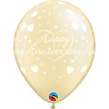 "Happy Anniversary Party Helium Quality Latex Balloons 11"" Love Hearts Yellow"