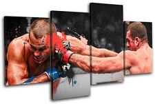MMA Mauricio Shogun Rua Sports MULTI CANVAS WALL ART Picture Print VA