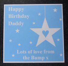 Tarjeta de cumpleaños personalizada de la momia Bump Daddy Papá Mamá para ser -3 Colores