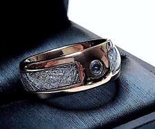 Meteorite Ring, Blue Aquamarine Stone, Meteorite Ring His and Hers, Promise Ring