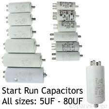 BEKO Capacitor Start Run Motor Capacitors Micro Farad MFD 5UF - 80UF Spade Tabs