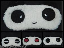 Carino Panda Bear Animal Pelliccia Lusso degli occhi da viaggio a Pelo Cover Maschera Patch uksell