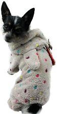 Hundejacke Jacke S M L XL XXL Hund Fleece weich warm Hundemantel grau Overall