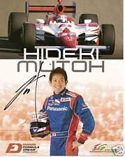 2009 HIDEKI MUTOH autographed INDIANAPOLIS 500 INDY CAR PHOTO CARD POSTCARD race