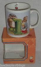 "Gordon Fraser Mug Cup Country Companions Hedgehog Ladybug ""I"" + Box"