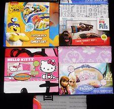 Descendants Big Hero Frozen Hello Kitty Olaf Pets SpongeBob Sheet Set Twin Full