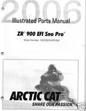 2006  ARCTIC CAT ZR 900 EFI SNO PRO  PARTS  MANUAL