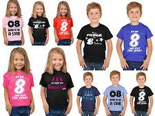 8.Geburtstag Kinder T-Shirt Sprüche Shirt 8 Jahre Kindershirt Geburtstagshirt