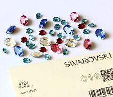 Véritable cristaux de swarovski 4120 ovale pierres fantaisie * Plusieurs tailles et couleurs